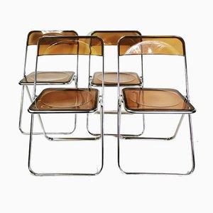 Italian Modernist Folding Chairs, 1960s, Set of 4