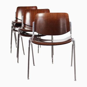 Dining Chairs by Giancarlo Piretti for Castelli / Anonima Castelli, 1978, Set of 6