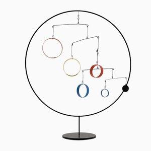 Bewegliche kinetische mobile Skulptur im Stil von Alexander Calder, 1970er