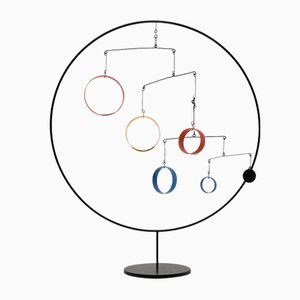Escultura móvil Kinetic de pie al estilo de Alexander Calder, años 70