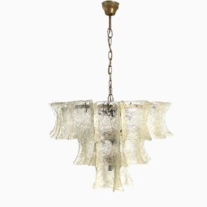 Murano Glas Pulegoso Deckenlampe, 1970er