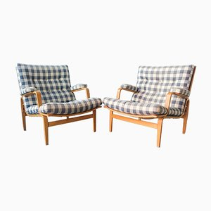 Model Ingrid Lounge Chairs by Bruno Mathsson for Dux, 1960s, Set of 2