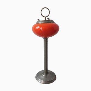 Portugiesische Opalglas Stehlampe oder Aschenbecher, 1960er