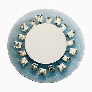 Italian Illuminated Glass Model 2044 Mirror by Max Ingrand for Fontana Arte, 1960s