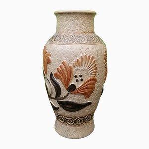 Florale Vase von Bay Keramik, 1960er