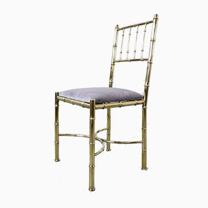 Brass Chairs, 1940s, Set of 10