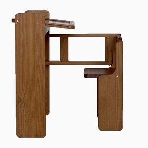 Dutch Children's Metamorphic Pine Desk, 1970s