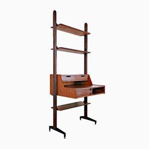 Italian Free Standing Desk / Bookcase, 1960s