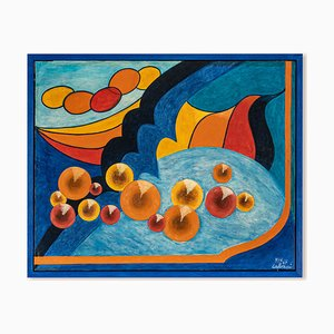 Pittura espressionista di Nicola Calvani, anni '60