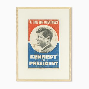 John F. Kennedy Campaign Poster, 1960s