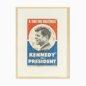 John F. Kennedy Wahlkampf Poster, 1960er