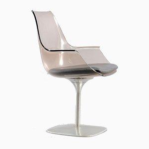 Vintage Champagne Stuhl aus Plexiglas, 1970er
