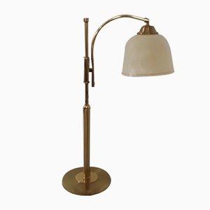 Verstellbare Satin Messing Tischlampe von Schröder, 1980er
