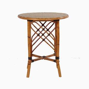 Vintage Bambus Tisch aus Rattan, 1966