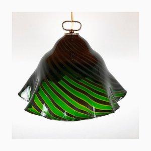 Vintage Green Murano Glass Ceiling Lamp by Harto Sven for Romano Mazzega, 1930s