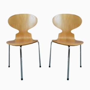 Ant Dining Chairs by Arne Jacobsen for Fritz Hansen, 1991, Set of 2