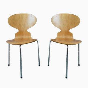 Sedie da pranzo Ant di Arne Jacobsen per Fritz Hansen, 1991, set di 2