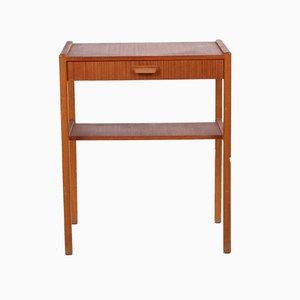 Danish Vintage Side Table or Bedside Table Model with Drawer, 1966