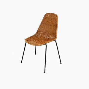 Mid-Century Rattan Basket Chair by Gian Franco Legler, 1951