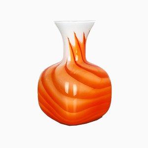 Large Vintage Pop Art Opaline Glass Vase, 1970s