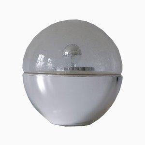 Mid-Century Modern texturierte Tisch- oder Stehlampe aus Glas, 1960er
