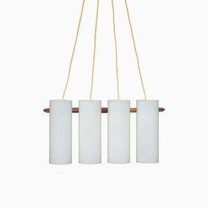 Plafonnier par Östen Kristiansson pour Luxus, Suède, 1950s