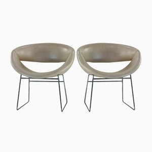 Armchairs by Rudolf Wolf for Rohé Noordwolde, 1950s, Set of 2
