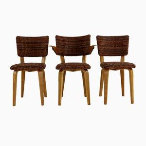 Esszimmerstühle von Cor Alons & JC Jansen für C. de Boer, 1950er, 3er Set