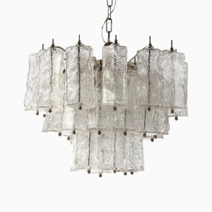 Mid-Century Glass Chandelier by Paolo Venini, Italy