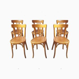 Bistro Chairs from Baumann, 1950s, Set of 6