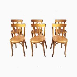 Bistro Stühle von Baumann, 1950er, 6er Set