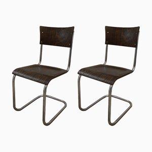 Chaises de Bureau B43 en Bois par Mart Stam, 1950s, Set de 2