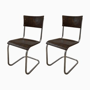 Wooden B43 Desk Chairs by Mart Stam, 1950s, Set of 2