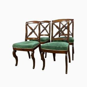 Esszimmerstühle aus Mahagoni, 1810er, 4er Set