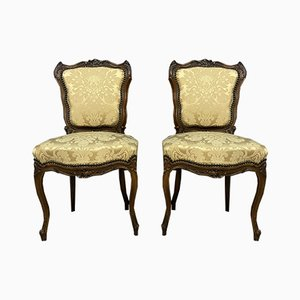 Walnut Ceremonial Chairs, Set of 2