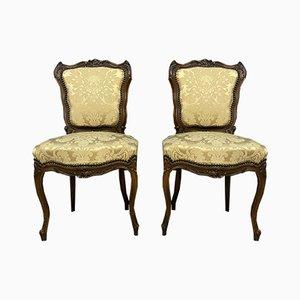 Zeremonielle Stühle aus Nussholz, 2er Set