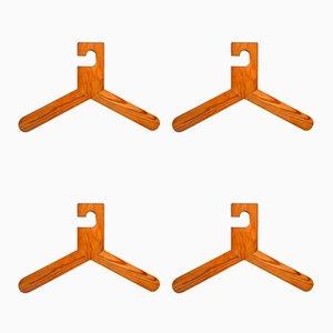 Mid-Century Pine Hangers, Set of 4