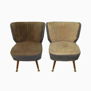 Mid-Century Olive and Gray Cocktail Chair, 1950s
