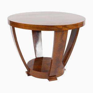 Tavolino Art Deco in noce, anni '20