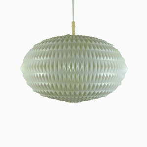 White Plastic Suspension Lamp from Erco, 1960s