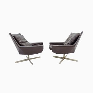 Brown Leather Lounge Chairs from Walter Knoll / Wilhelm Knoll, 1960s, Set of 2