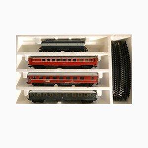 Locomotiva FS E.444.001 & Deutsche Bahn Euro Schlaf- und Essgarnitur von Lima, 1980er, 10er Set