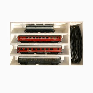 Locomotiva FS E.444.001 & Deutsche Bahn Euro Night Sleeping and Dining Train Set from Lima, 1980s, Set of 10