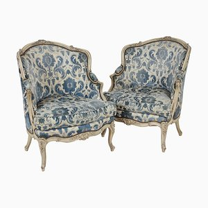 Antique Lounge Chairs, 1890s, Set of 2