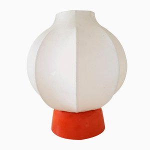Cocoon Table Lamp with Orange Base, 1970s