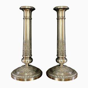 Silberne Kerzenständer, 2er Set