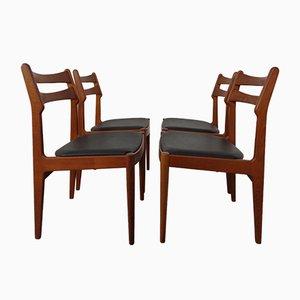 Danish Teak Dining Chairs from Vamo Mobelfabrik, 1960s, Set of 4