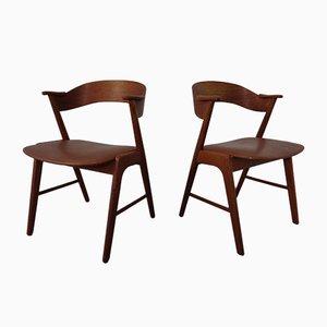 Dänische Teak Esszimmerstühle von Korup Stolefabrik, 1960er, 2er Set
