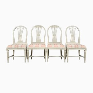 Gustavian Model Spike Dining Chairs, Set of 4
