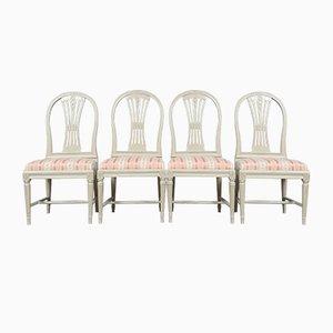 Gustavianische Esszimmerstühle Modell Spike, 4er Set